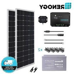 Renogy 200W Watt Solar Panel BR Kit w/ 100Ah Deep Cycle Batt