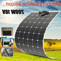 200 Watt 18V 200W Solar Panel Mono Semi-flexible Off Grid Ba