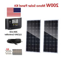 200Watt 24V Solar Panel Mono Kit with 20A Charge Controller