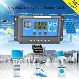 Tiean 2018 Solar Panel Regulator Charge Controller USB 10A/2