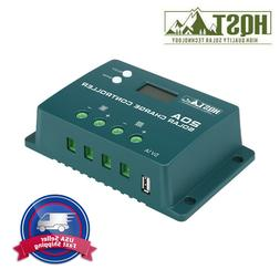 HQST 20A 12V/24V PWM Solar Charge Controller Positive Ground