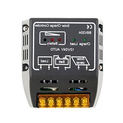 Diymore 20A 12V/24V Solar Charger Controller Solar Panel Bat
