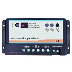 EPEVER Dual Battery Solar Charge Controller 20A 12V 24V Duo-