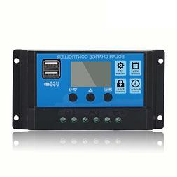 HonYan 20A Solar Controller 12V/24V LCD Solar Panel Regulato