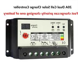 ECO 20A LCD Solar Panel Battery Charge Controller 12V/24V Re