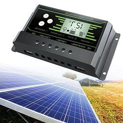Kinbelle 20A 12V 24V Solar Panel Charger Controller Battery