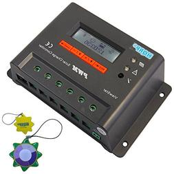 HQRP 12V / 24V 20 Amp Solar Panel Battery Charge Controller