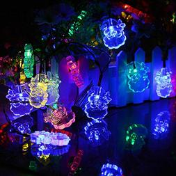 RNTop 20LED Solar Santa Claus Lamp String Lights String Part