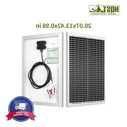 HQST 20W 12V Monocrystalline Solar Panel 20 Watt 12 Volt Off
