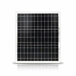 NUZAMAS 20W 12V Solar Panel Aluminium Frame Battery Charger