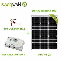 Newpowa 20W 12V Solar Panel + PWM 10A Controller Battery Cla