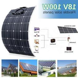 20W-130W 18V Semi Flexible Monocrystalline Solar Panel Syste