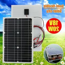 20W 18V Semi-flexible Solar Panel Battery Charger For 12V RV