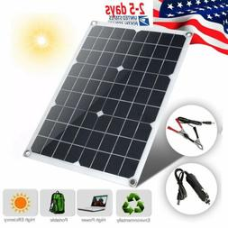 20W 30W 12V Solar Panel + 10A Controller Bundle Kit 20 30 Wa