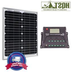 20w 30w 12v solar panel 10a controller