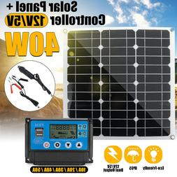 20W/30W/40W Solar Power Panel Controller Car Battery Charge