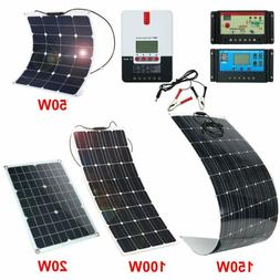 20W 50W 100W 150W 200W Mono Flexible Solar Panel KIT Battery