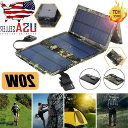 20W Foldable Solar Panels Waterproof Portable Solar Panel Ba