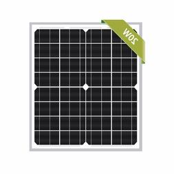 Newpowa 20W Monocrystalline 20 Watts 12v Poly Solar Panel Mo