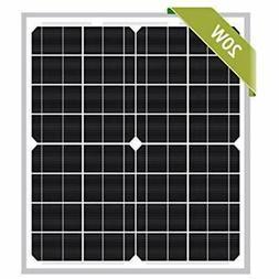 20W Monocrystalline Watts 12v Poly Solar Panel Module Rv Mar