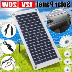 20W Solar Panel 12V/5V Battery Charger USB for Car Boat Cara