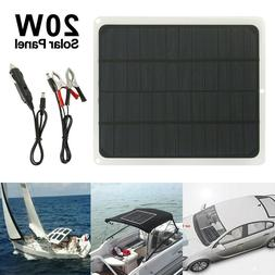 20W Solar Panel 12V Trickle Charge Battery Charger Kit Maint