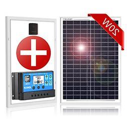 20W Solar Panel Kit Solar Regulator Charge 12V Battery Ideal