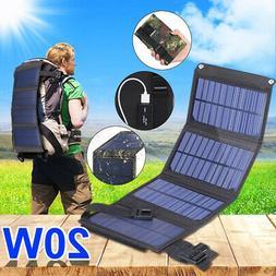 20w usb solar panel folding power bank