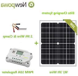 Newpowa 20w Watt 12v Solar Panel + PWM 10a 12v Smart Chargin