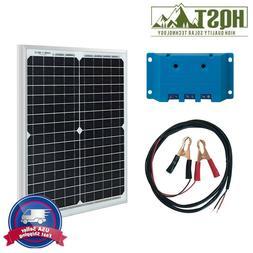 HQST 20W Watt Mono Solar Panel Kit w/ 5A Controller 12V Off