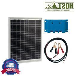 HQST 20W Watt Poly Solar Panel Bundle Kit with 5A Controller