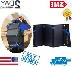 21W Lightweight Foldable Solar Panel PV Power USB Port Batte