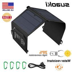SUAOKI 21W Solar Panel Charger Foldable Emergency Smartphone