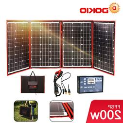 200W Flexible Portable Solar Panel + 12v Controller For Camp
