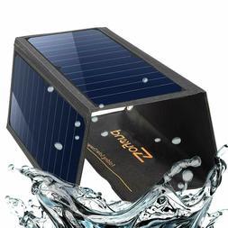 22W Foldable Solar Phone Power Charger Panel Dual USB Solar