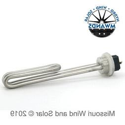 24 Volt 300 watt DC Low Voltage Water Heater Element for Win