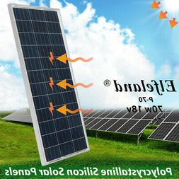 10W -70W 18V Poly Solar Panel Poly Panel Battery For 12V Car