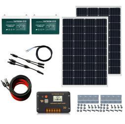 240W 200W 120W 100W 50AH 100AH Battery Complete Solar Panel