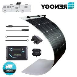 248° Flexible Renogy 160 Watt Mono Solar Panel RV Kit 150W