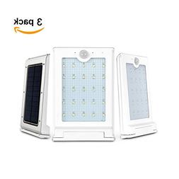 SuperLED 25-LED Solar Powered Outdoor Wall Mount Light LED W