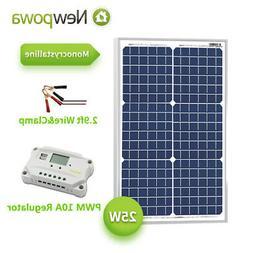 25 watt 25w 12v solar panel pwm