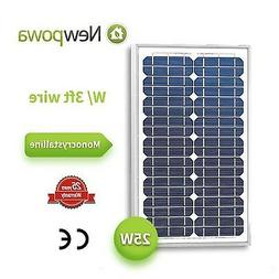 25 Watts Monocrystalline Newpowa High Quality 12v Mono Solar