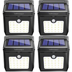 28 LEDs Solar Lights Outdoor, Luposwiten Solar Motion Sensor