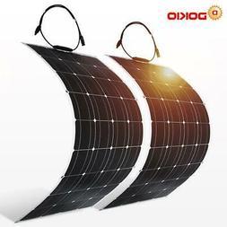 Dokio 2PCS 12V 100W Flexible Monocrystalline Solar Panel For