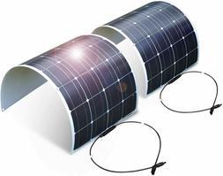 2pcs Solar Panel 100W 12V Bendable Semi-Flexible Thin Film M
