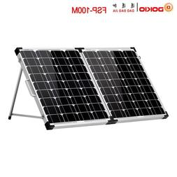 2Pcs x 50W Foldable Solar Panel Cell 18V+10A 12V/24V 100W Co