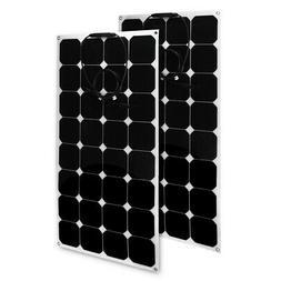 2x 100W 12V Solar Panel Charger Solar Cell Ultra Thin Foldab