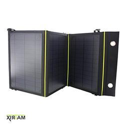 MATRIX 15W 3-Panel Foldable Solar Power Bank with Dual-USB 5