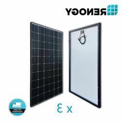 New Renogy 300 Watt 24 Volt Monocrystalline Solar Panel, Fre