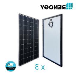 3 X Renogy 300W Mono Solar Panel 900W Watt 24/48V Volt Off G